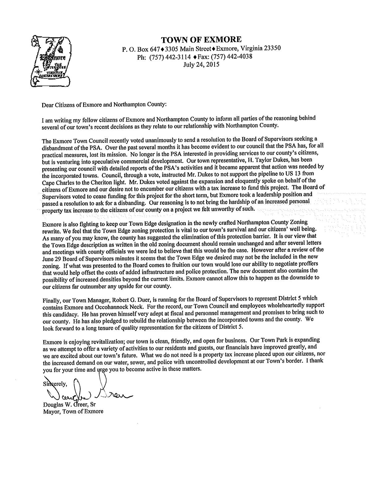 Mayor Greer defends PSA decision.