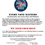 """Northampton County Branch of the NAACP hosts """"Take Your Soul to the POLLs"""" June 2nd"""