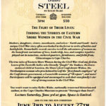 Cape Charles Historical Society Exhibition: Stronger than Steel: Four Women, Four Years, One War
