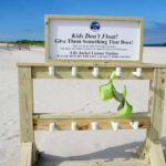 Town offers Life Jacket Loaner Station at Beach