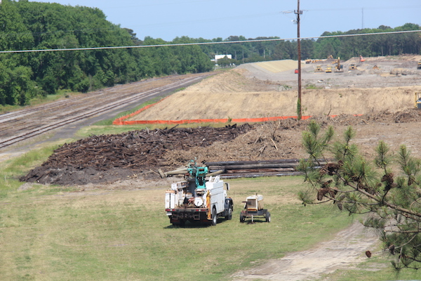 Abandoned Railroad Ties were never moved, just buried – CAPE CHARLES