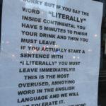 "NYC Bar literally Bans Customers that literally say ""literally"""